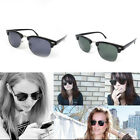 Retro Half Rimmed Frame Polarised Lens Sunglasses Pilot Aviator UV400 Unisex