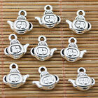 12pcs tibetan silver 2sided Chinese-word lucky FU teapot charms EF1469
