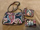 Vers Bradley Little Crossbody Heirloom Paisley Coin Purse and ID Case