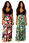 Woman's Black Top and Multi-Coloured and green Floral Sleeveless Maxi Dress
