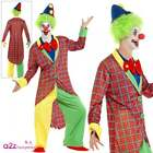 La Circus Deluxe Clown Costume - Adult Mens Jester Carnival Fancy Dress Outfit