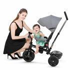 Besrey+ 4-in-1+Trike+Baby Stroller+ Safety Bike+ Infant Pushchair+Parent handle