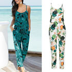 Womens Casual Floral Sleeveless Playsuit Ladies Romper Long Jumpsuit Trousers