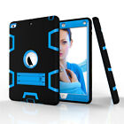 For iPad Air 1 2 Shockproof Military Heavy Duty Rubber Hard Stand Case Cover+Pen