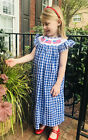 Flag gingham Bishop Dress- Hand-smocked NEW * Fourth of July 4th Memorial Day
