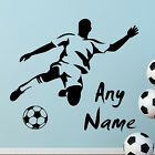 FOOTBALL PERSONALISED NAME WALL STICKERS Wall Art Decal Quotes Wall Sticker  N41