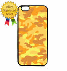 Orange Army Camouflage Print Phone Case Galaxy S Note Edge iPhone 5 6 7 8 9 X +