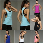 Women Vest Workout Tank Top T-shirt Sport Gym Clothes Fitnes