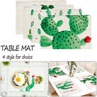 Cactus Placemat Pad Linen Mat Kitchen Home Dining Food Heat Insulation Tablemat