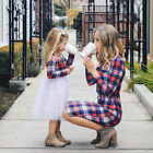 Mother and Daughter Matching Dresses Women Girls Tulle Tutu Party Family Clothes