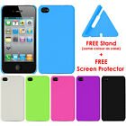 Shock Proof Plastic Hard Back Case Cover for iPhone 4s/4 + FREE Screen Protector