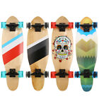 27 Inch Penny Style Board Mini Cruiser Retro Skateboard Wooden Print Deck image
