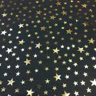 Luxury DENIM Foil STARS Fabric Material - LIGHT BLUE