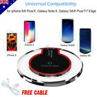Clear Qi Wireless Fast Charger Charging Pad Dock Mat for iPhone X/ 8 /8 Plus AU
