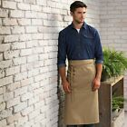 Long  Bar Apron   One Size W 90cm  L 80cm Long Style Premier Front Pocket Red