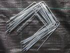 GALVANISED METAL GROUND COVER PEGS STAPLES WEED CONTROL MEMBRANE GRASS PINS