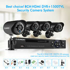 FLOUREON 1080N HDMI 8CH 4CH DVR IR CUT Outdoor 720P CCTV Security Camera System