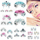Fashion Women 3D Crystal Temporary Tattoo Face Gems Body Jewels Stickers Jewelry