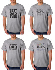 Father's Day 2018 Best Dad Ever Father Gildan Cotton Gray T-shirt