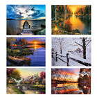 Framed LED Landscape Lighted Canvas Painting Print Home Wall Art Picture Decor