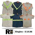 Red Kap Reflective Hi Vis Work Shirts 2 Pocket Short & Long Sleeve Uniform