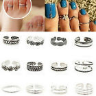 12PCs/set Celebrity Silver Daisy Toe Ring Women Punk Style Finger Foot Jewelry image