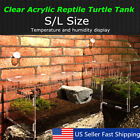 Turtle Tank Reptile Top Habitat Filter Kit Aquatic Large Acrylic Breeding Cage