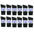 New Diabetic Crew Socks Circulatory Health Cotton Loose Fit Top 12 Pairs