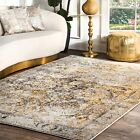 nuLOOM NEW Contemporary Vintage Area Rug in Grey, Gold Yellow