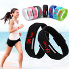 Digital LED Sports Running Jogging Silicone Bracelet Band Wrist Watch Wristwatch
