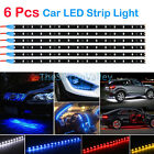 6PCS Waterproof Flexible 12''/15 LED Strip Underbody Light For Car Motorcycle