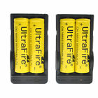 3.7V 9800mAh Rechargeable Li-ion 18650 Battery + US Charger For Torch