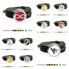 stainless Steel Essential crystal Diffuser Locket Black PU Leather Wristband