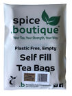 spice.boutique UNBLEACHED PAPER - Empty, PLASTIC FREE, Self Fill Tea Bags