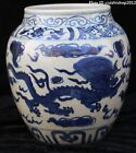 "9"" Chinese Dynasty Palace Porcelain Pottery Dragon Beast Bottle Vase Pot Statue"