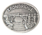 The Iron Bridge Ironbridge Gorge Shropshire Pewter Pin Badge