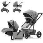 Fashion 3 in 1 Baby Stroller High View Luxury Travel Folding Pushchair Car Seat