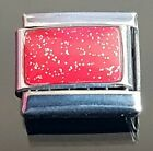 Sparkly Red Italian Charm Link + 1 Nomination Bracelet Charms Link Charm