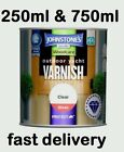 Johnstones Yacht Clear Gloss Wood Varnish Outdoor Hard Wearing 250ml 750ml Sale