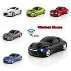 Wireless MouseCar Shape 2.4GHz Optical Mini Gaming Mice USB Receiver Fashionable