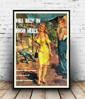 Hill Billy high heels : Vintage pulp book cover, poster, Wall art, reproduction.