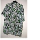 NWT $100 BILL HAWAIIAN SHIRT 2X 3X 5X CHINESE Sizing RUNs SMALL see measurements