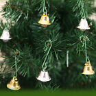 10Pcs Cute Stainless Steel Bells Christmas Pendants Ornament Gold/Silver