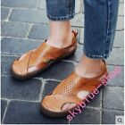 Mens Summer close toe Hollow Out breathable Sandals Flats Loafer Beach shoes new