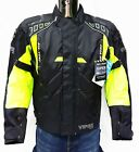Viper Coretech Textile Waterproof CE Armoured Motorcycle Jacket Black Yellow