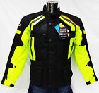 Viper Journey 3/4 Textile Waterproof CE Armoured Motorcycle Jacket Black Yellow