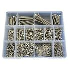 G304 Stainless M5 Metric Hex Bolt Nut Washer Assortment Kit Screw #240