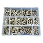 G316 Marine Stainless M5 Metric Hex Bolt Nut Washer Assortment Kit Screw #32