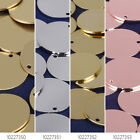 "11/16"" Round Blanks with Hole blank brass tags Metal Stamping Blanks 10pcs"