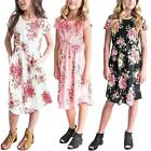 Toddler Baby Girls Floral Dress Kids Party Beachwear Dresses Outfits Sundress
